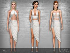 White Collection by beo2010 - Sims 3 Downloads CC Caboodle. Makes me want to start a Spartacus legacy