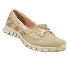 Women's EZ Flex 2 - Navigate (taupe) $62 Another comfortable boat shoe inspired slip-on sneaker by Sketchers that I think Mum might like...
