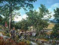 Burnsides-Bridge-John-Paul-Strain-Civil-War-Giclee-Canvas-Antietam-Creek