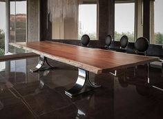 Build a truly unique dining room with a custom kitchen table. Have the dining table of your dreams handcrafted from wood by expert artisans. Custom Made Furniture, Cheap Furniture, Dining Room Furniture, Slab Table, Dining Table, Custom Kitchens, Little Houses, Home Decor, Newport