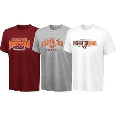 Virginia Tech Hokies Youth T-Shirt 3-Pack - Maroon/Ash/White