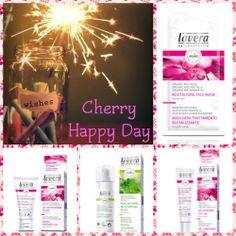 Have a #CherryHappyDay ladies με τα καινούρια, βιολογικά καλλυντικά #Lavera που θα βρείτε στο e-shop μας. Μόνο για σήμερα το Cherrybox σας κάνει 1+1 δώρο στις αγορές σας στις εξής κρέμες: 1) Faces 24h ενυδατική κρέμα προσώπου με βιολογικό άγριο τριαντάφυλλο 30 ml 2) Θρεπτική κρέμα - Τζελ Ματιών με βιολογικό άγριο τριαντάφυλλο 15 ml 3) Αναζωογονητική Μάσκα Προσώπου με βιολογικό άγριο τριαντάφυλλο 10 ml  4) Ενυδατική κρέμα προσώπου για σύσφιξη πόρων με βιολογική μέντα 30 ml
