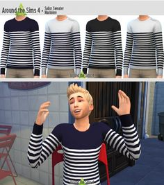 Sailor Sweater by Sandy at Around the Sims 4 via Sims 4 Updates