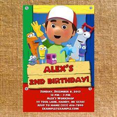 Customized Handy Manny Birthday Party Invite - Digital File