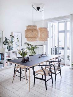 Luksus på budget | Femina Ikea Dining Room, Dining Room Walls, Dining Room Design, Dining Room Furniture, Interior Design Living Room, Dining Table, Kitchen Interior, Room Interior, Dining Area