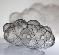 'Cloud Cage I' (2012) by Turkish artist Kemal Tufan (b.1962). 23.5 x 59 x 23.5 in. via Pg Art Gallery on artsy