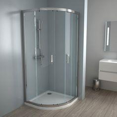 Cabine de douche coulissante. Profilé en aluminium finition chromée.