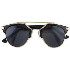 Gold Oversized Sunglasses (35 BRL) ❤ liked on Polyvore featuring accessories, eyewear, sunglasses, oversized glasses, gold sunglasses, gold glasses, over sized sunglasses and oversized eyewear