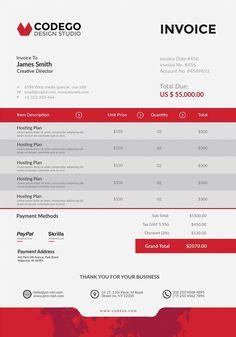 Online Invoice Creator Desain Invoice Template  Invoice Template Designs Download .