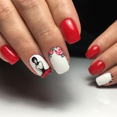 Square Nail Designs, Nail Art Designs, Red Nails, Glitter Nails, Toe Nail Art, Acrylic Nails, Nail Art For Beginners, Vernis Semi Permanent, Painted Nail Art