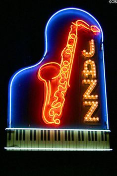 Piano and sax jazz Music Love, Music Is Life, Instrumental, Jazz Poster, Vintage Neon Signs, Jazz Art, Neon Nights, Jazz Club, Smooth Jazz