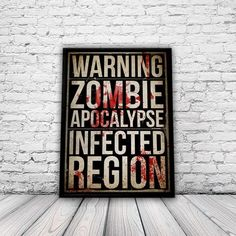 Zombie Poster, by You Mother Punker via Folksy, 10.00