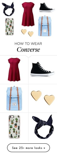 """Sem título #1430"" by malu-880 on Polyvore featuring AX Paris, Converse, Herschel Supply Co., Lipsy, Boohoo and Casetify"