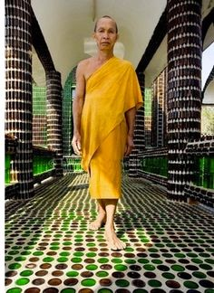 Have you ever thought about visiting Thailand? Ck. out this temple made of beer bottles.