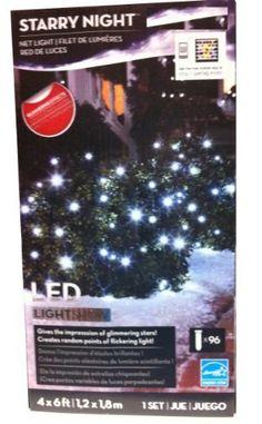 Gemmy 96 Twinkle Lights White LED Christmas Lights Net Lights . $75.00