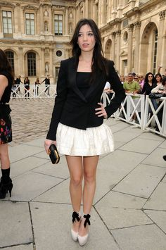 Daisy Lowe Celebrity Shoes, Celebrity Style, Daisy Lowe, Leather Dresses, Celebs, Celebrities, Leather Clutch, Fashion Outfits, Womens Fashion