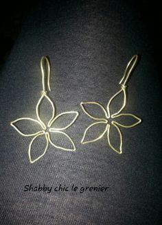 Handmade brass earrings. Orecchini in ottone fatti a mano. https://m.facebook.com/profile.php?id=675772772446917
