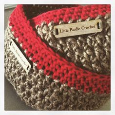 Little Birdie Crochet on Instagram shared these jute crochet baskets