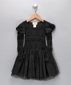 Black Lace Dress - Toddler by Mia Belle Baby #zulily #zulilyfinds