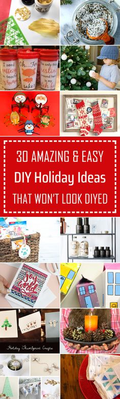 30 Amazing & Easy DIY Holiday Ideas That Won't Look DIYed