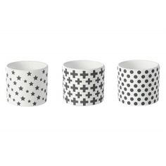 Lot 3 cache-pots imitation béton motifs géométriques - ECLECTIC : Jardin d'Ulysse, vente Vases et cache-pots