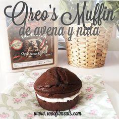 Oreo's Muffin muy esponjoso de Avena y Nata de Coco
