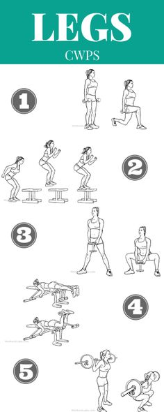 LEG WORKOUT PLAN! These leg workouts for women can be done at home or at the gym! These are 5 of the best leg toning exercises. They'll help you lose thigh fat, tone your calves, lift your butt, etc.! Enjoy this workout for legs.