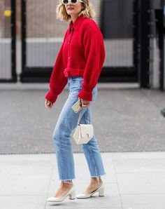 how to wear jeans to work cropped jacket #weartoworkstyle