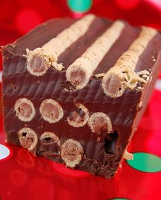 Chocolate-Hazelnut Crunch Slice (or embed this in fudge and slice)