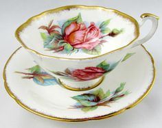 Paragon Tea Cup and Saucer, Vintage Tea Cup with Roses, Fine Bone China, Paragon Rose Cup and Saucer
