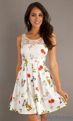 Lace Trimmed Floral Print Dress BB-LAURENT-BC28988