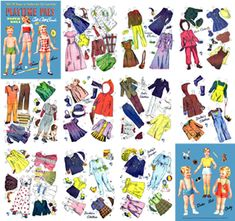 Playtime Pals Paper Dolls Lowe, 1946