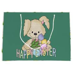Easter bunny holiday medium gift bag easter giftshousehold large easter bunny holiday gift bag negle Image collections