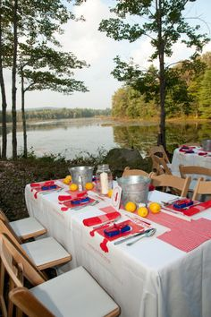 Lobster Bake Rehearsal dinner in the woods at the Parker King Wedding atLakefalls Lodge Photography by grazierphotography.com, Floral Design by tangerinecreations.com