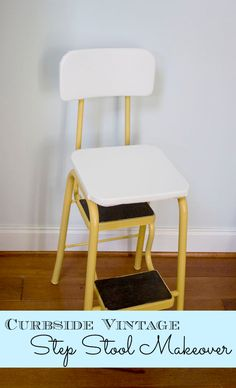 Curbside Vintage Step Stool Makeover Nice Ideas