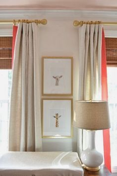 pretty for a nursey; inside of drapes with color