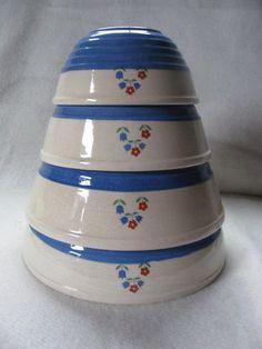 Hazel Atlas Blue Mixing Bowl | Mixing Bowls/Vintage