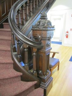 curved newel post - Google Search