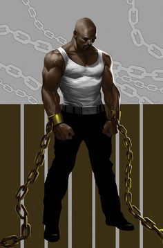 Luke Cage (born Carl Lucas and also called Power Man) is a fictional character, a superhero appearing in comic books published by Marvel Comics. Description from imgarcade.com. I searched for this on bing.com/images