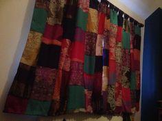 Boho patchwork curtains