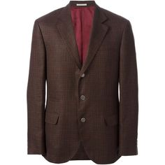 BRUNELLO CUCINELLI tweed blazer (172,005 INR) found on Polyvore featuring men's fashion, men's clothing and sportcoats
