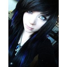 Goth Scene Girl Goth Know Your Meme ❤ liked on Polyvore featuring beauty, hair, hair/people and people