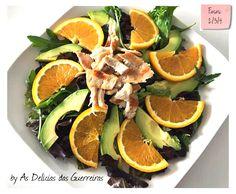 Por : As Delícias das Guerreiras Ingredientes Salada de alface ao vosso gosto 1/2 abacate dos pequenos 1 laranja pequena 1 bife de ...