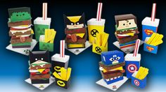 Designer Turns Marvel Superheroes Into Fast Food Meal Combos