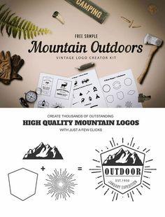 Mountain-Outdoor-Vintage-Logo-Kit