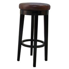 118630B-01/Cameron Bonded RD Swivel Bar Stool, Brown