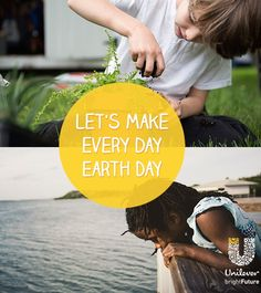 Give back to the environment. By adopting daily eco-friendly habits you are making a difference, no matter how small the effort. @UnileverUSA #brightFuture #Partner ==