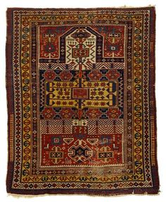 Shirvan prayer rug   east caucasus, dated indistictly, circa late 19th century    5 ft. 1 in. x 4 ft.  - FREEMAN'S