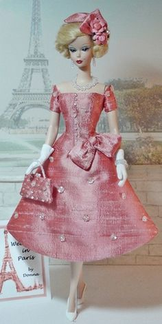 Weekend in Paris, pretty in pink, old fashion!!! Tonner Barbie OOAK doll. ♥◔◡◔ ◉◡◉ ~_~