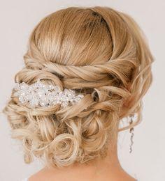 mid length hair wedding updos - Google Search
